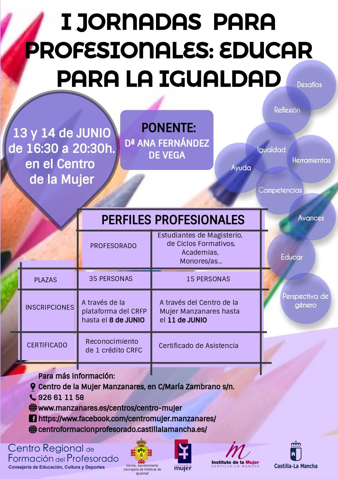 I Jornadas para Profesionales: Educar para la Igualdad