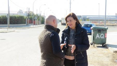 Isabel Díaz-Benito, visita el inicio de las obras que han tenido lugar en Manzanares