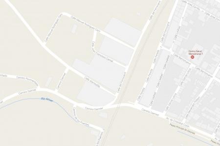 Plano de la zona en la que se encuentran las calles a asfaltar