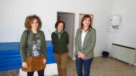 Visita a las obras de mejora en el albergue de Manzanares
