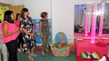 Visita a la nueva sala multisensorial del Centro de Atención Temprana