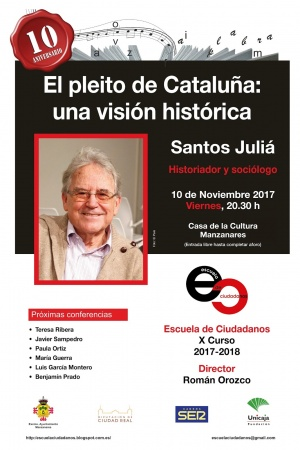 Cartel de la conferencia de Juliá