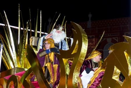 Carroza del Rey Melchor en la cabalgata del año 2017