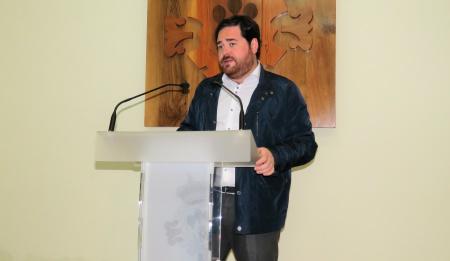 Imagen de archivo - Pablo Camacho en la rueda de prensa sobre el final de curso 2017/2018 de la UP