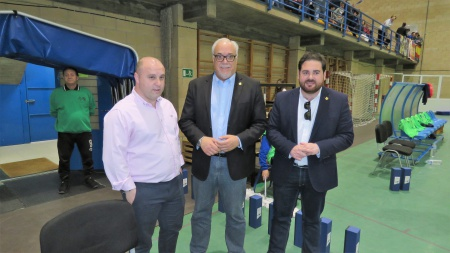 Julián Nieva junto a Manuel del Salto y a Pablo Camacho
