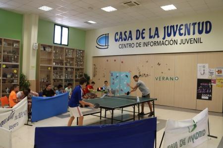 Tenis de mesa en la Casa de la Juventud
