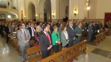 """Momento de la celebración de Misa en la Parroquia """"Asunción de Nuestra Señora"""""""