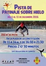 Cartel de la pista de patinaje