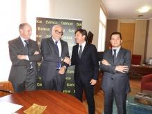 Firma del convenio entre Ayuntamiento y Bankia para promocionar y cofinanciar las ferias FERSAMA y FERCAM