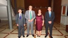 Julián Nieva, con Eugenio García-Pozuelo, Rosario Morales y Rafael Ángel Huéscar