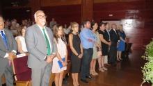 Miembros de la Corporación y la directora provincial de Bienestar Social