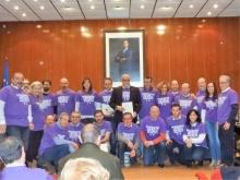 Los miembros del III Pleno Ciudadano junto a parte de la Corporación