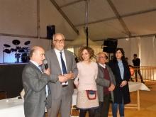 Merino junto a alcalde y otros miembros de la Corporación