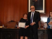 El alcalde junto a Mari Carmen López