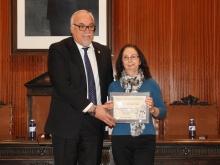El alcalde junto a Carmen Aldavero