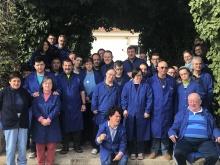 Los usuarios y usuarias del Centro Ocupacional se han sumado a la iniciativa y han vestido de azul
