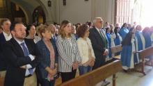 El alcalde encabezó la representación municipal en la despedida de las monjas