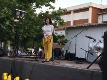 La directora del centro durante su discurso de graduación