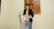 Esther Nieto en la presentación del programa de festejos
