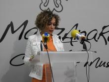 Beatriz Labián durante la presentación de las II Jornadas de Salud Mental