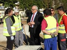 Obras de remodelación de la plaza de la calle Cuenca