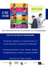 Cartel del cine-fórum por el Día Internacional de las Personas con Discapacidad