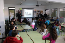 Charla de Seguridad Vial en el colegio Tierno Galván