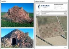 Ficha del bombo afectado en el catálogo de bienes