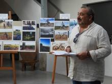 Miguel Ramírez, concejal de Movilidad, en la exposición de la primera edición