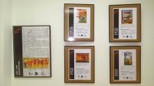 Algunos de los paneles de la exposición