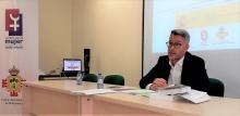 El Fiscal Jesús Gil durante su ponencia