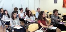 Profesionales de la abogacía en la sesión formativa con el Fiscal de violencia de género en Castilla-La Mancha