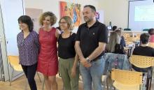 Apertura de las jornadas dirigidas a docentes con presencia de la concejala de Igualdad, Beatriz Labián, y del concejal de Educación, Juan López de Pablo