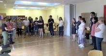 Dinámica grupal con los docentes participantes en las jornadas los días 5 y 6 de junio