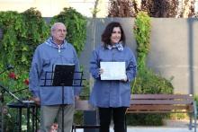 Gemma de la Fuente recibió el reconocimiento al Ayuntamiento