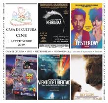Programación de cine (septiembre 2019)