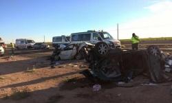 Estado en el que quedaron algunos vehículos tras el accidente