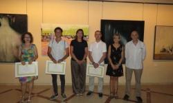 Premiados en el Certamen junto a las concejalas Silvia Cebrián e Isabel Díaz-Benito