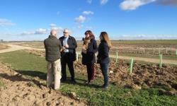 Visita del alcalde, Julián Nieva a las Cañadas Reales de Manzanares