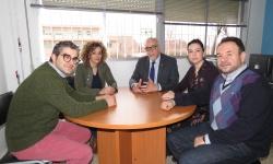 Reunión mantenido entre el Ayuntamiento y el IES Azuer