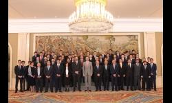 Foto conjunta de la recepción del Rey a la EFA Moratalaz de Manzanares