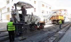 Trabajos de fresado en la calle Padres Capuchinos