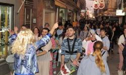 Aspecto de la calle Empedrada el sábado de carnaval