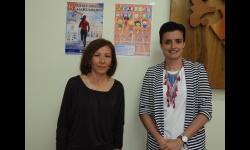 Esther Nieto-Márquez, concejala de deportes y Carmen Ruiz-Escribano, presidenta del Club Atletismo Manzanares