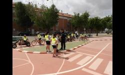 Alumnado  de 4º y 5º de primaria reciben clases prácticas de educación vial