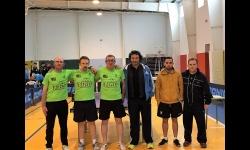 Componentes del Efran TM Manzanares con los jugadores del Noez