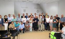 Ganadores de los concursos de Fercam en 2016 junto a las autoridades