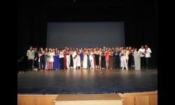 Alumnado del IES Sotomayor en el acto de Graduación