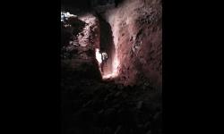 La avería se encontraba a seis metros de profundidad