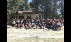 Adolescentes participantes en el Campamento Olimpiadas Riopar